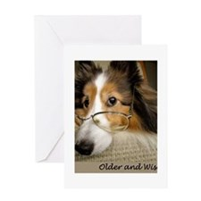 Older and Wiser Greeting Card
