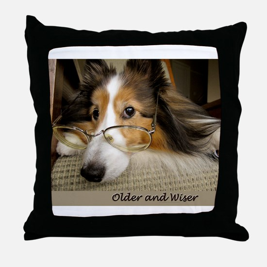 Older and Wiser Throw Pillow
