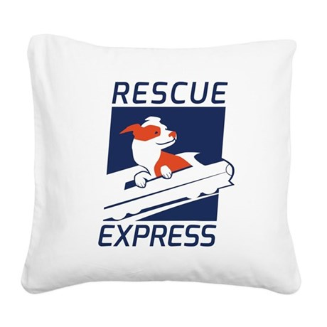 Rescue Express Square Canvas Pillow