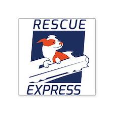 "Rescue Express Square Sticker 3"" x 3"""
