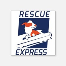 "Rescue Express Square Sticker 3"" x 3"""