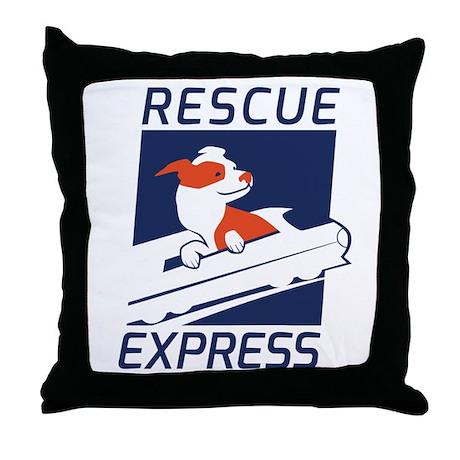 Rescue Express Throw Pillow