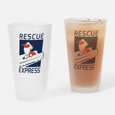 Rescue Express Drinking Glass
