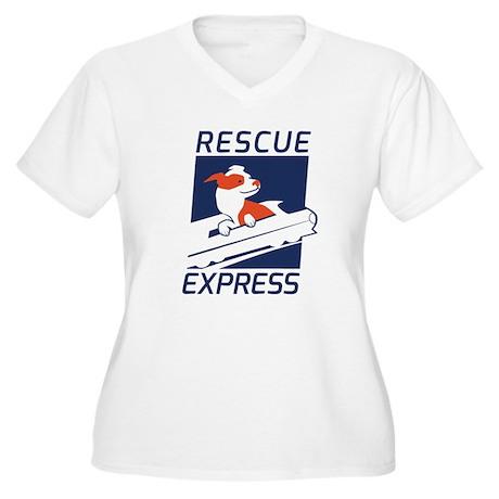 Rescue Express Women's Plus Size V-Neck T-Shirt