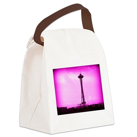 Space Needle Canvas Lunch Bag
