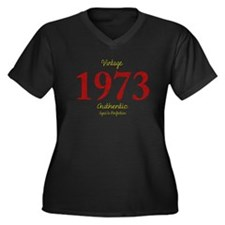 1973 Women's Plus Size V-Neck Dark T-Shirt