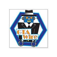"""GTA Wire Logo Square Sticker 3"""" x 3"""""""
