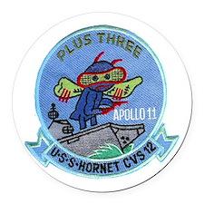 Apollo 11 & CVS-12 Round Car Magnet