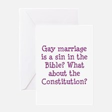 gay marriage is a sin in the Bible? Greeting Card