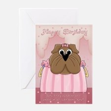 Cute Dog In A Handbag Birthday Greeting Card