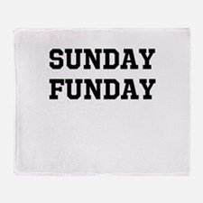 Sunday Funday Throw Blanket