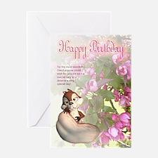 Friend Birthday Greeting Card With Cute Squirrel a