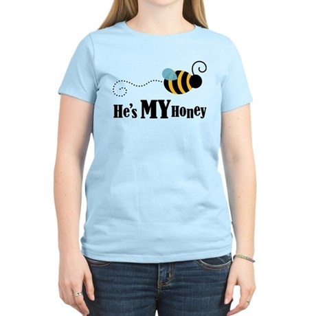 He's My Honey Matching Women's Light T-Shirt