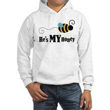 He's My Honey Matching Hooded Sweatshirt