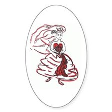 Valentine's Day Bride Oval Decal