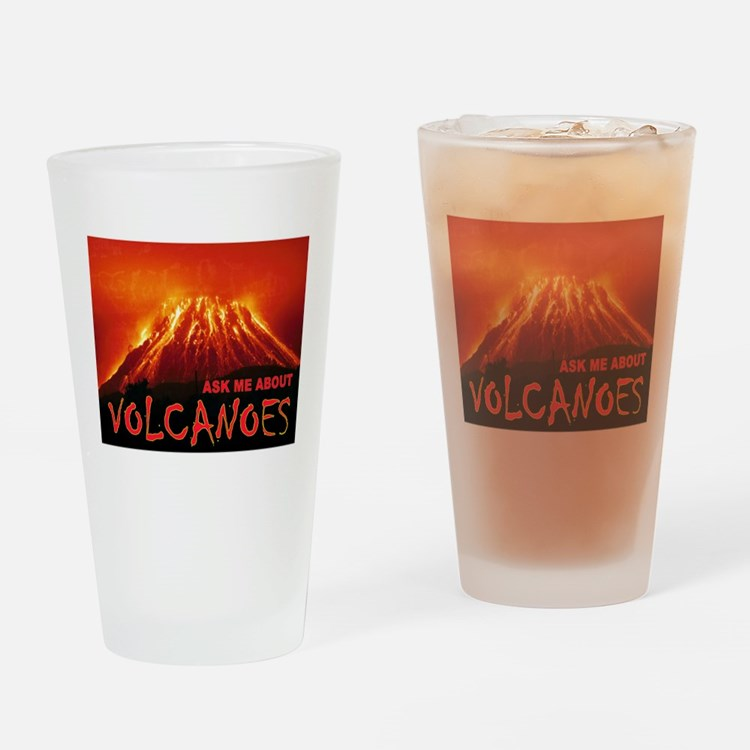 VOLCANOES Drinking Glass