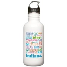 live dream Indiana Water Bottle