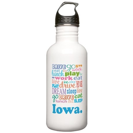 live dream Iowa Stainless Water Bottle 1.0L