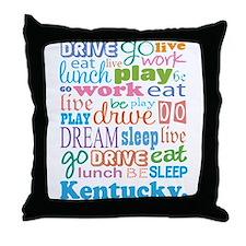 live dream Kentucky Throw Pillow