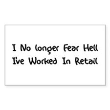 Retail Hell Rectangle Decal