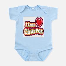 logo love churros Infant Bodysuit