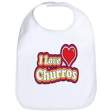 logo love churros Bib