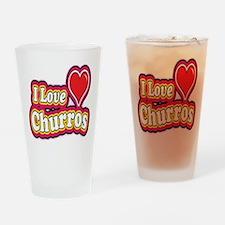 logo love churros Drinking Glass