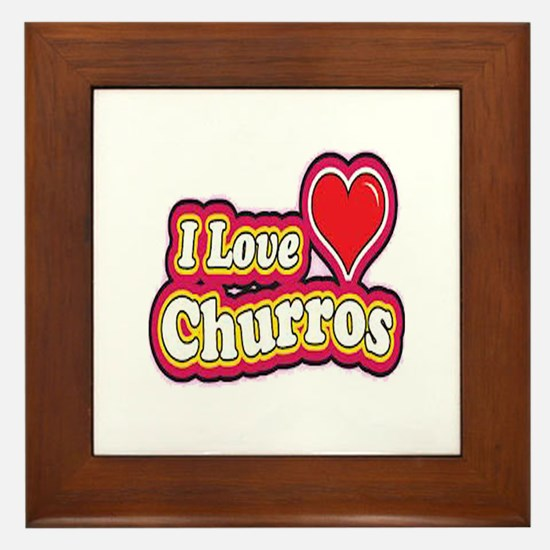 logo love churros Framed Tile