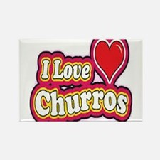 logo love churros Rectangle Magnet