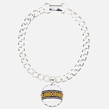 US Airborne tab Charm Bracelet, One Charm
