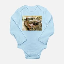Gun Welded Rat-Rod Truck Long Sleeve Infant Bodysu