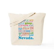 live dream Nevada Tote Bag