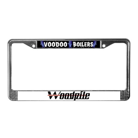Woodpile License Plate Frame
