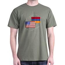 Armenia USA Flag Heritage T-Shirt