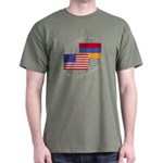 Armenia USA Flag Heritage Dark T-Shirt