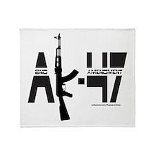 AK-47/SECOND AMENDMENT Throw Blanket