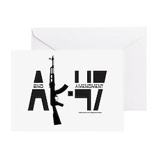 AK-47/SECOND AMENDMENT Greeting Card