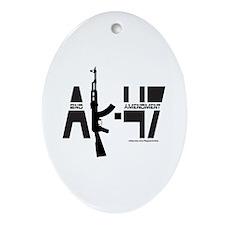 AK-47/SECOND AMENDMENT Ornament (Oval)