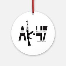 AK-47/SECOND AMENDMENT Ornament (Round)