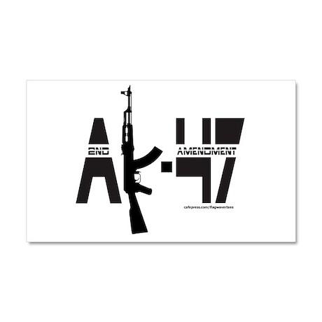 AK-47/SECOND AMENDMENT Car Magnet 20 x 12