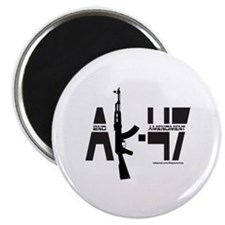 "AK-47/SECOND AMENDMENT 2.25"" Magnet (100 pack)"