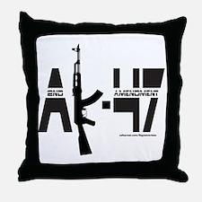 AK-47/SECOND AMENDMENT Throw Pillow