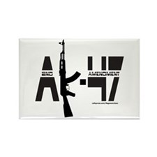AK-47/SECOND AMENDMENT Rectangle Magnet