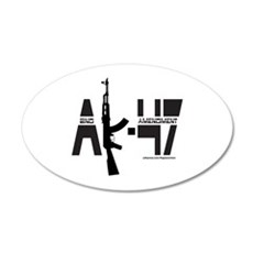 AK-47/SECOND AMENDMENT Wall Decal