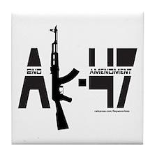 AK-47/SECOND AMENDMENT Tile Coaster