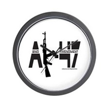 AK-47/SECOND AMENDMENT Wall Clock