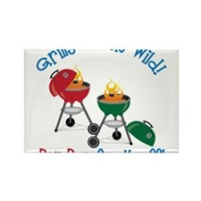 Grill Gone Wild Rectangle Magnet