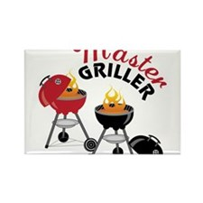 Master Griller Rectangle Magnet
