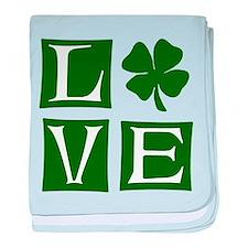 Love St. Patricks Day baby blanket