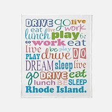 live dream Rhode Island Throw Blanket
